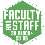 Faculty/Staff 30 Block + 20 DB